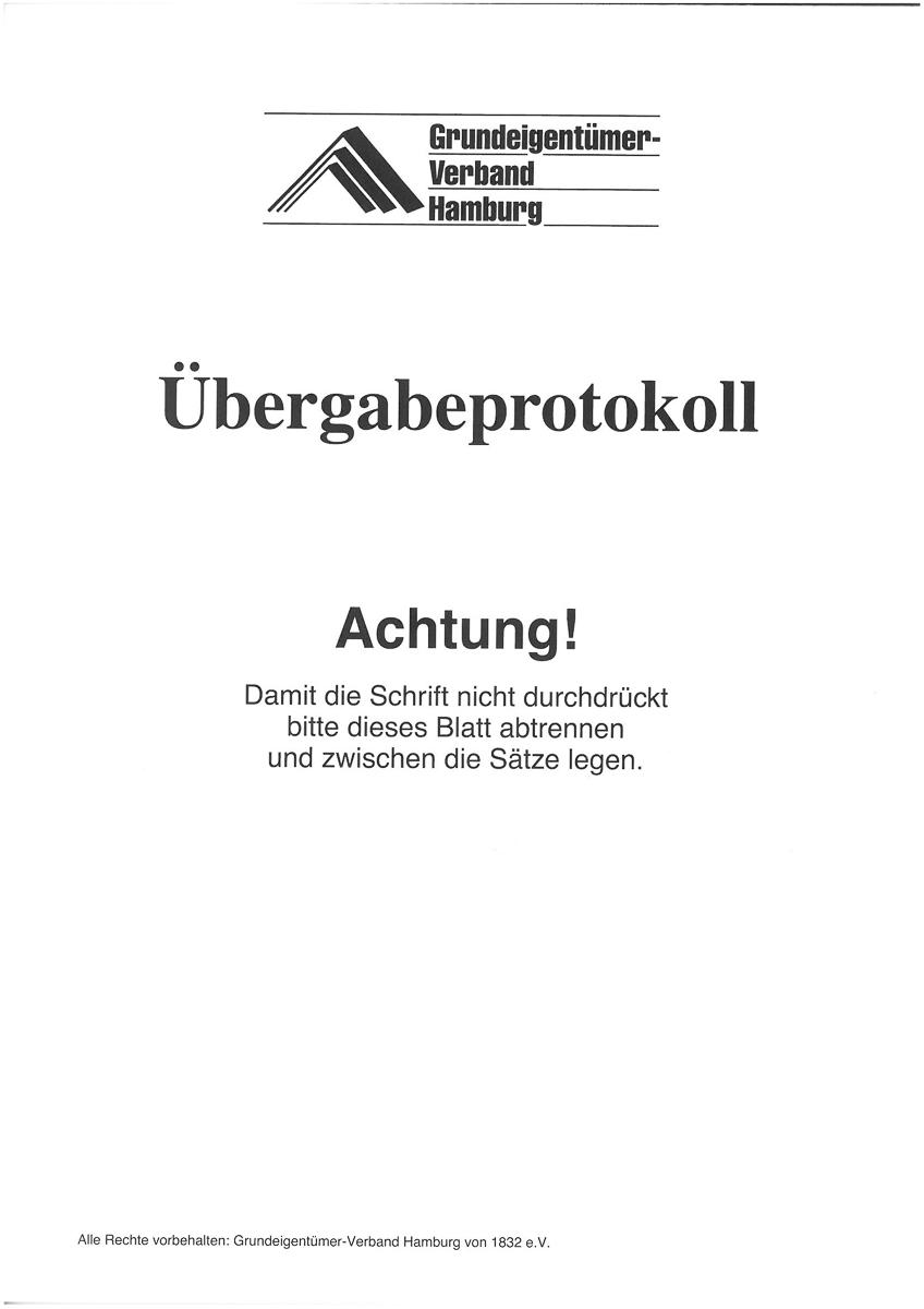 schlieen x - Ubergabeprotokoll Muster